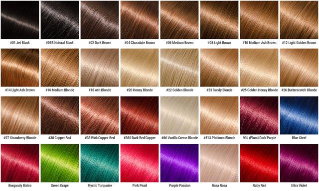 Фото и название цвета волос