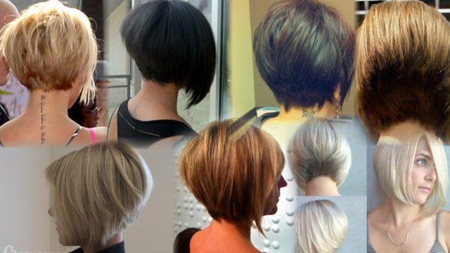 Тенденции 2018: фото стрижек боб-каре на коротких волосах