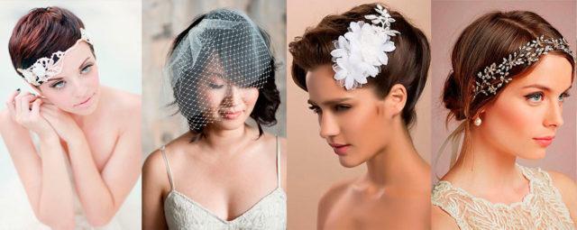 Свадебные прически на короткие волосы 2018 (130 фото)