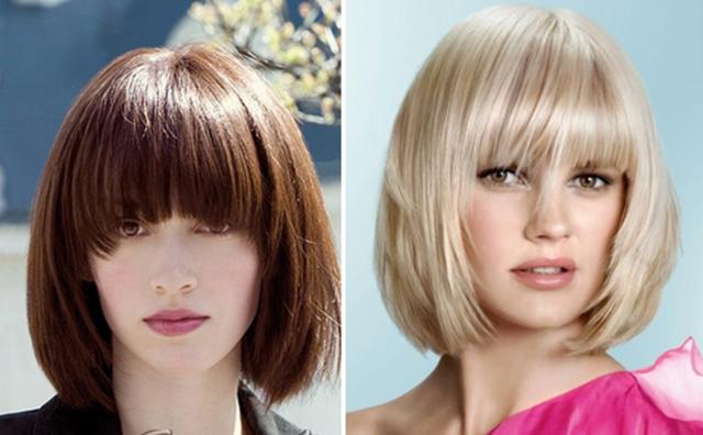 Варианты стрижек боб каре на средние волосы: фото 2018 вид спереди и сзади