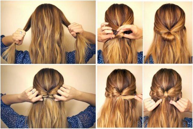 Быстрые прически на длинные волосы на каждый день своими руками: фото