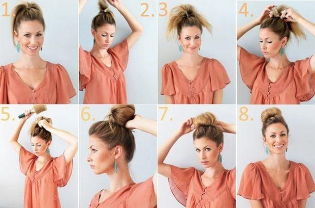 Быстрые прически на средние волосы своими руками в домашних условиях