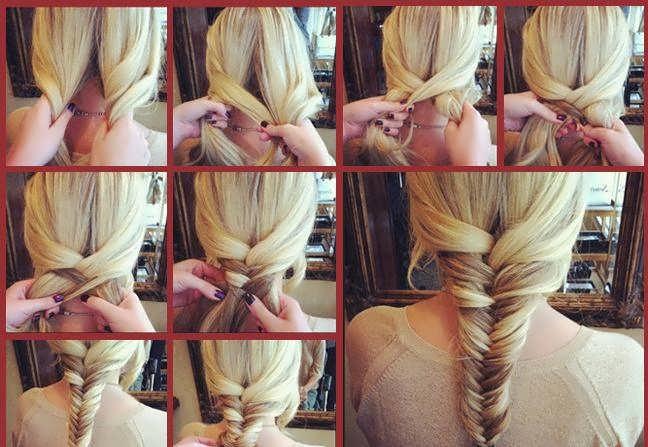 Причёски из косичек на средние волосы фото пошагово