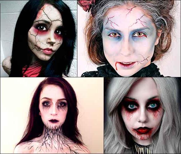 Макияж на Хэллоуин: идеи домашнего грима на Хэллоуин с пошаговыми фото и видео