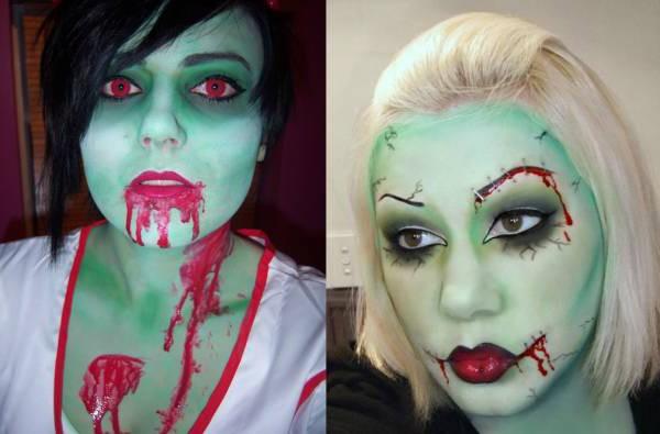 Как в домашних условиях сделать макияж зомби?