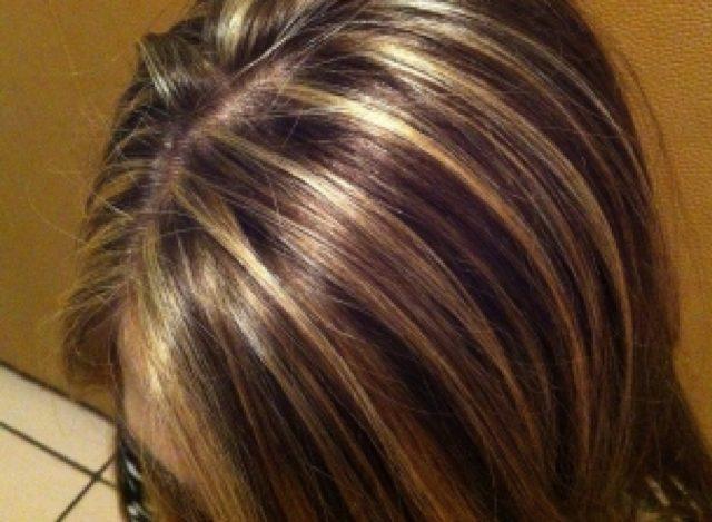 милировка на темных волосах: фото