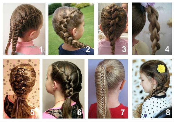 Пошагово прически для девочек на длинные волосы фото