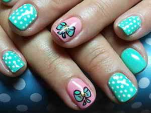 Рисунки дотсом на ногтях: фото