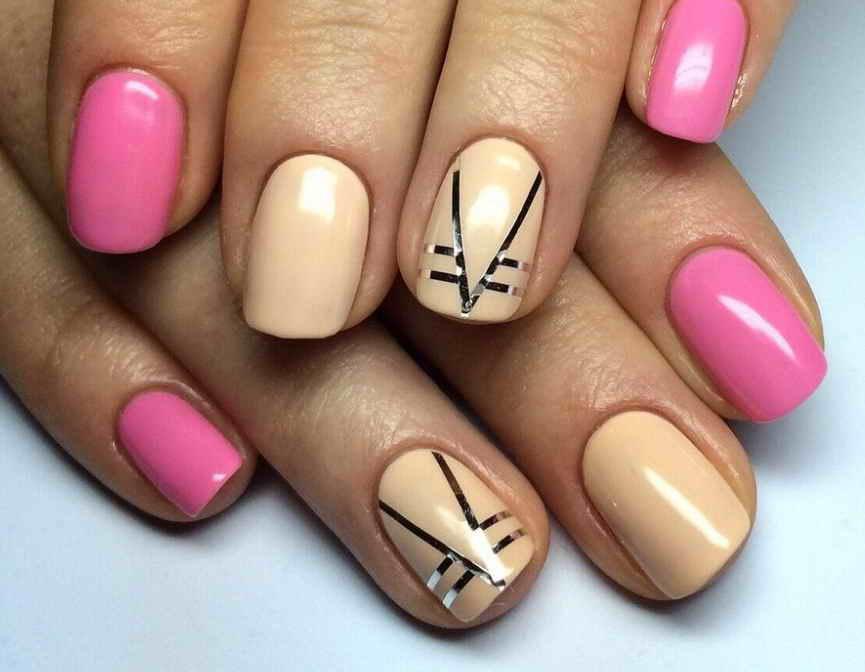 Дизайн ногтей со скотч лентой: фото