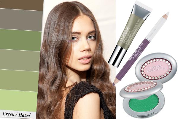 Вечерний макияж для зеленых глаз: фото