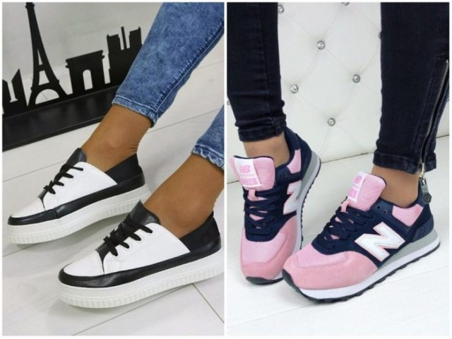 Какие женские кроссовки самые модные в 2018 году и фото стильных моделей fb0a2c29b1d